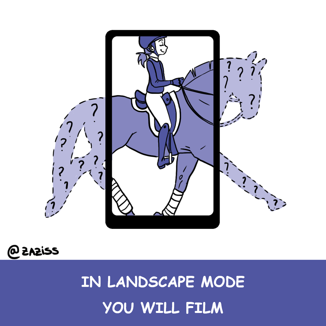 in landscape mode you will film