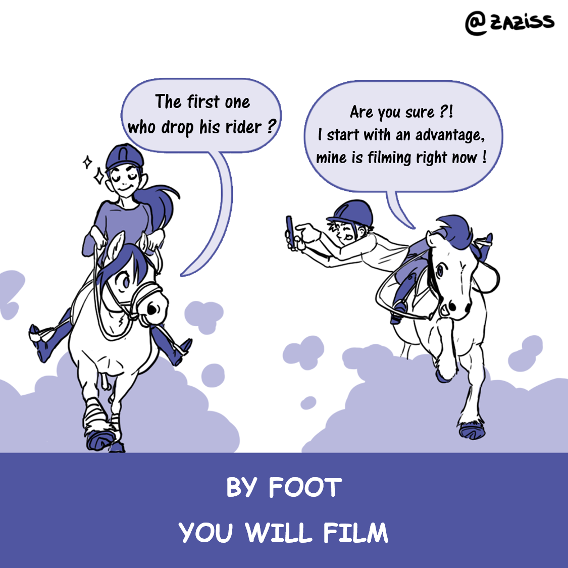 by foot you will film